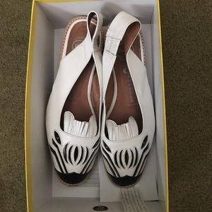 Jeffrey Campbell zebra leather sandals size 8
